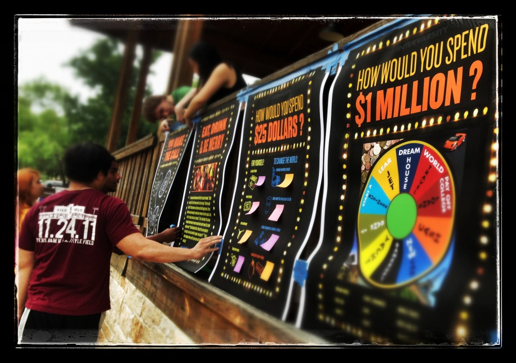 """InterVarsity Proxe Station """"How would you spend a million dollars?"""""""