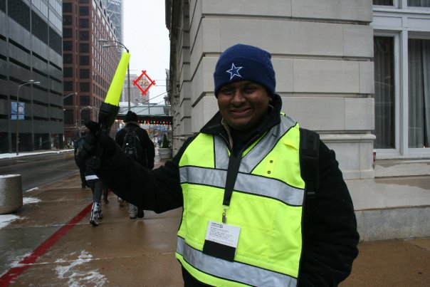 Serving as the outdoor foot traffic patrol at Urbana 2009